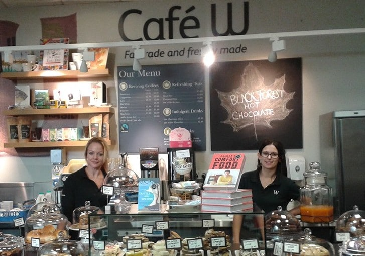 restaurants cafe retail waterstones