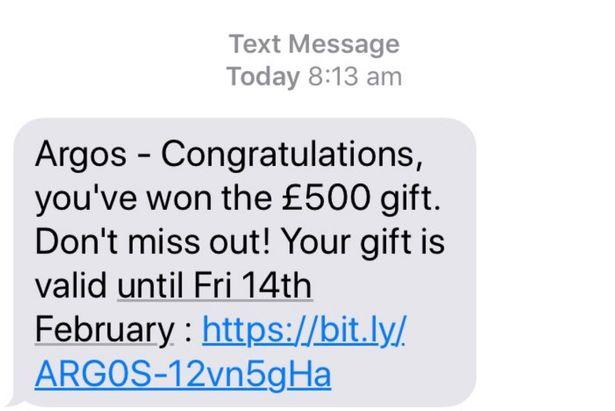 Argos scam