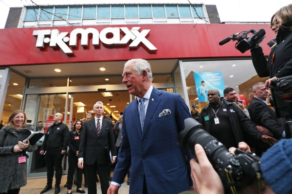 Prince Charles visited TK Maxx for the first time this week and hailed the budget retailer