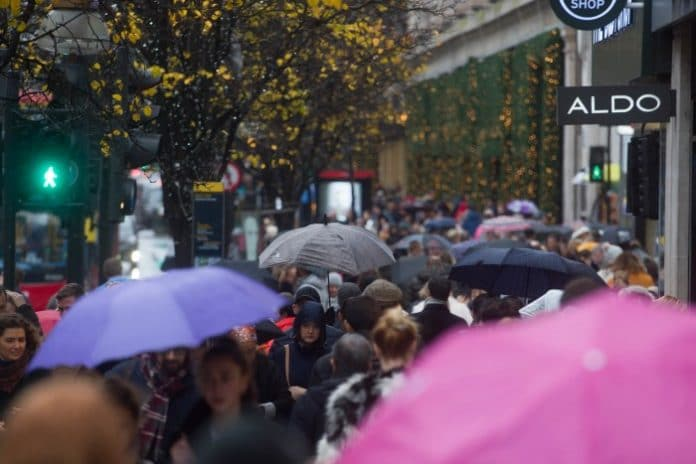 February footfall plunges 7.8% from severe rain & storms