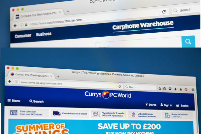 Dixons Carphone online sales soar but warns on missing profit forecasts