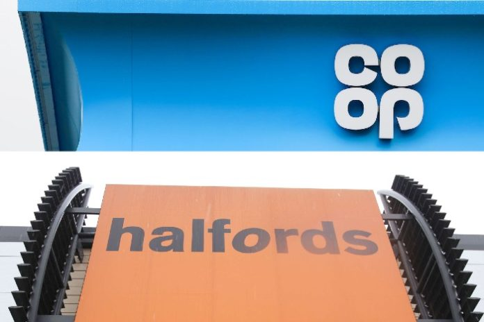 Co-op & Halfords announce social distancing measures