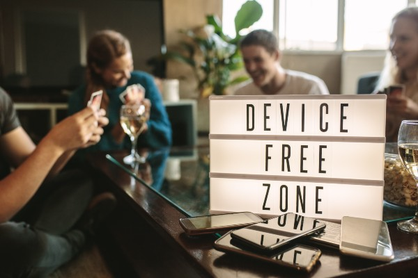This week the St. Enoch Centre in Glasgow launched a 'No Phone Zone' where people can relax, and unplug in the city centre.