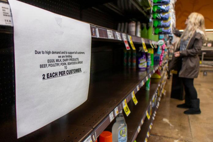 Grocers rationing stockpiling coronavirus covid-19 kantar nielsen