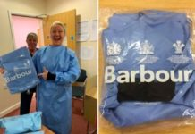 The British fashion retailer Barbour is producing 23,000 protective gowns for frontline medical workers battling coronavirus.It is the latest clothing retailer to help fill the PPE shortage by temporarily turning over its production line after workers stated there is not enough protective equipment.