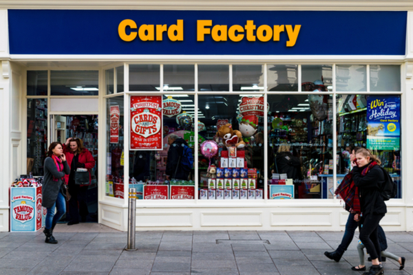 Card Factory online sales covid-19