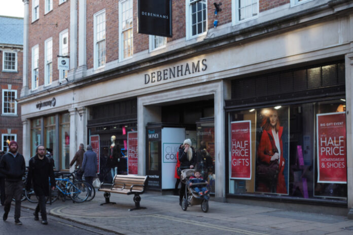 Debenhams to permanently shut another 5 stores