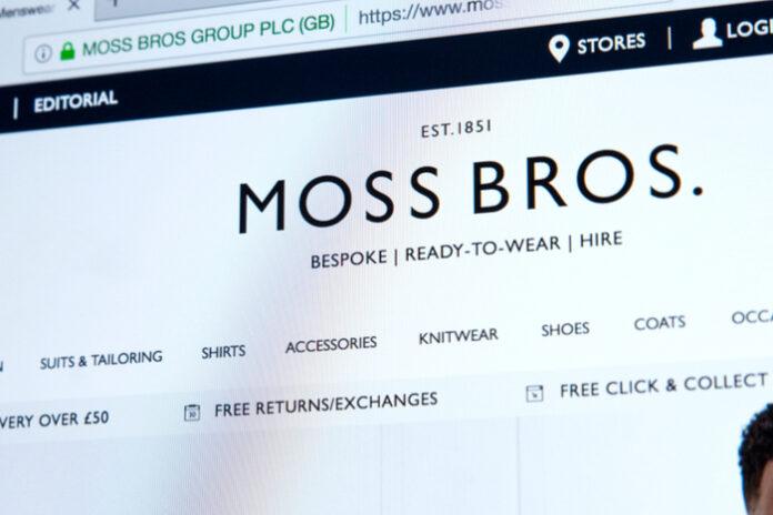 Moss Bros website reopening covid-19 lockdown