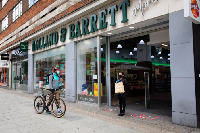 Holland & Barrett announces Deliveroo tie-up