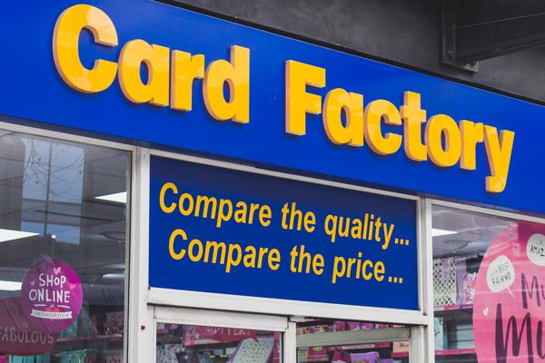 Card Factory covid-19 lockdown pandemic reopening trading update Karen Hubbard