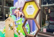 The Yards Covent Garden has revealed a new range of art installations to mark the launch of a new campaign, The Yards & The Bees to welcome back visitors to Covent Garden.