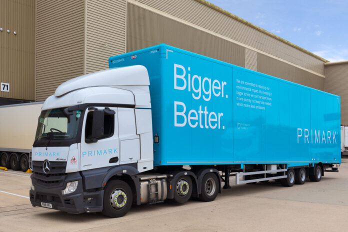 Primark rolls out greener trucks as part of UK logistics fleet