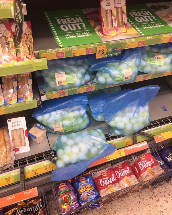Friday Fun One : Morrisons' sacks of wet boiled eggs