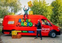 Argos launches a competition to win a special delivery of over £300 worth of LEGO Super Mario™ toys, teaming up with Diversity's Jordan Banjo and Perri Kiely to unveil the first ever LEGO Super Brick delivery van.