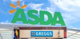 Asda Greggs concession