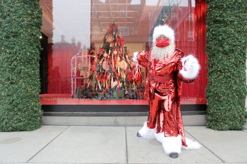 Selfridges reveals Christmas window display despite lockdown