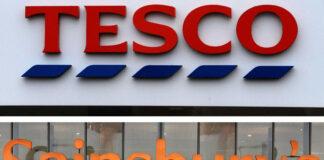 Tesco & Sainsbury's close off non-food parts of stores amid English lockdown
