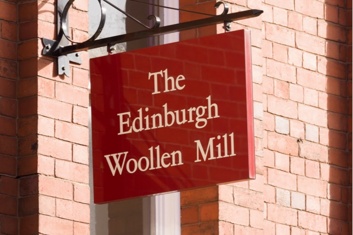 Edinburgh Woollen Mill Group Ponden Home administration Peacocks Jaeger FRP Advisory Philip Day Steve Simpson Spectre Austin Reed Bonmarche Jane Norman Days Department Store