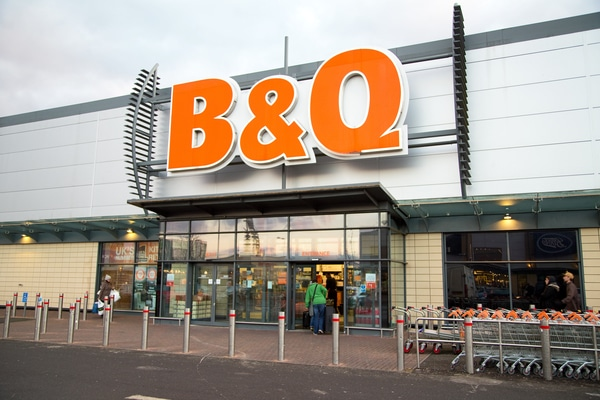 Kingfisher B&Q business rates relief Thierry Garnier Andy Cosslett