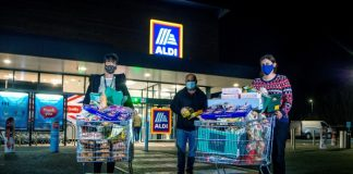 Aldi donation christmas Luke Peech