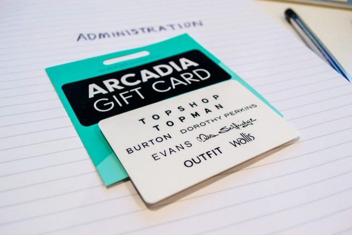 Arcadia Group administration gift card