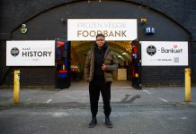 Strong Roots opens the UK's first Frozen Veggie Food Bank in Hackney, London to help tackle food poverty with help from Nicola Adams.