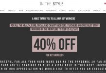 In The Style introduces 40% discount for key workers