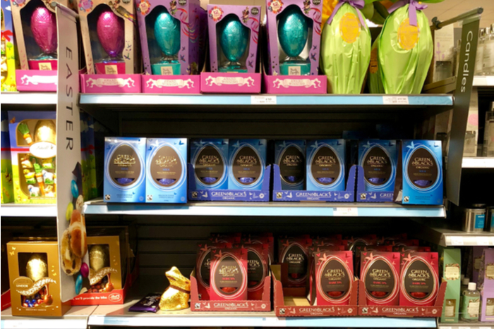 Waitrose confectionery plastic waste packaging recycling Easter eggs