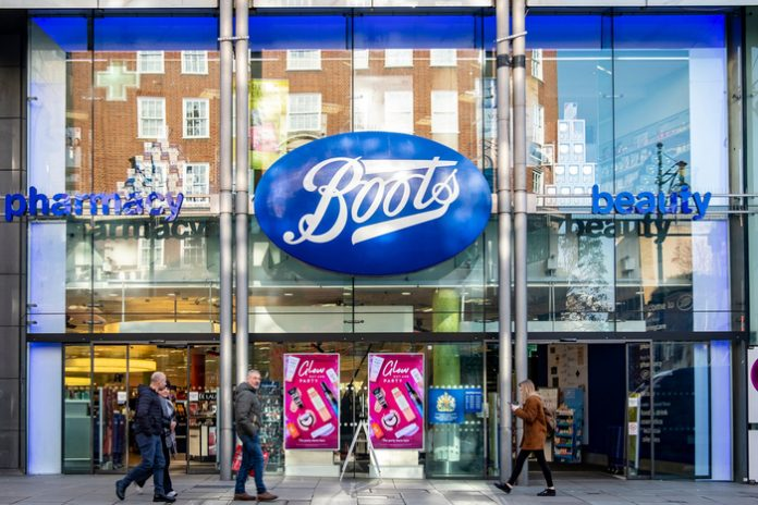 Boots sales drop by nearly a fifth