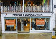French Connection sales plunge by 40% after store closures