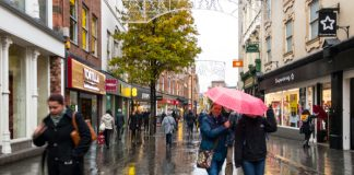 Rain hampers footfall comeback in 1st week since full UK-wide reopening