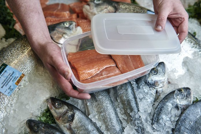 Morrisons brings back refillable containers at fresh fish & meat counters