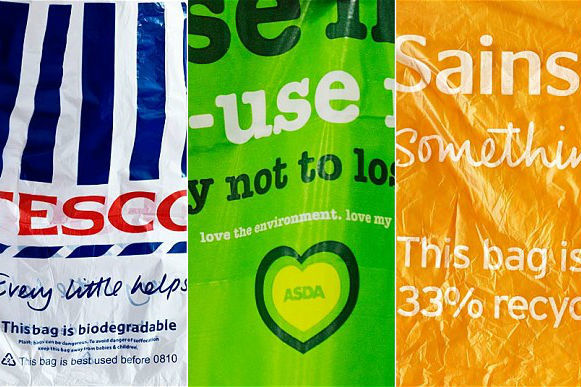 10p plastic bag charge to come into force in England on May 21