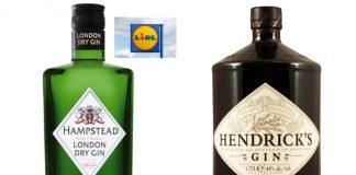Hendrick's & Lidl in trademark row over gin bottles