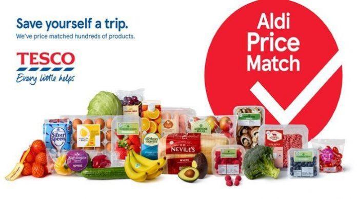 Aldi Tesco price match