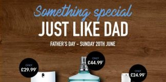 The Perfume Shop has revealed that men feel themselves becoming more like their Dads as they hit their 30s, as it launches its Father's Day campaign,Just Like Dad.