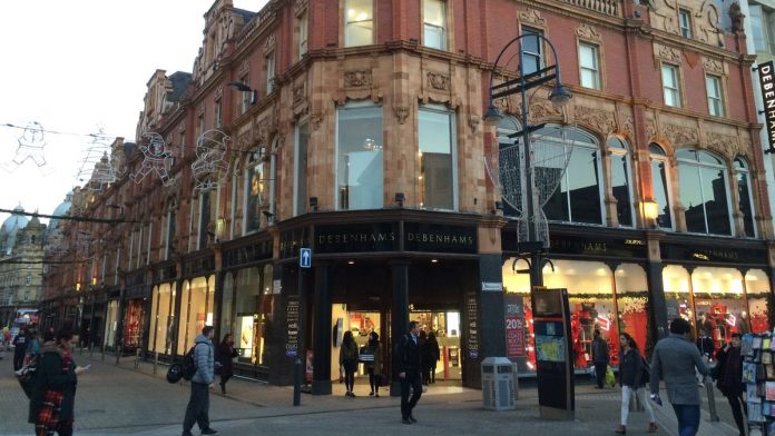 The former Leeds Debenhams in Briggate will become student flats