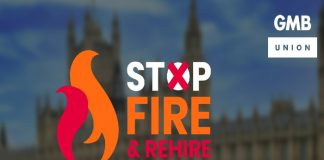fire and rehire employment rights law workers GMB union retail contract
