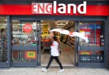 Iceland renames Wembley store in support of England football team
