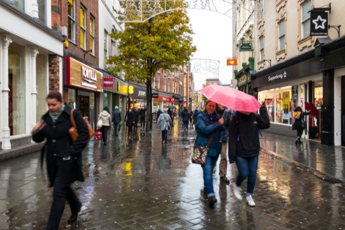 July footfall drops 28% on pre-pandemic levels amid turbulent weather