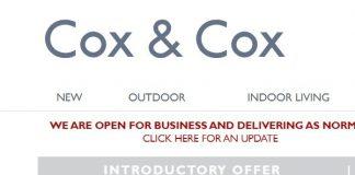 Cox & Cox half-year sales skyrockets 105%