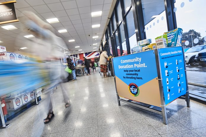 Aldi is rolling out its new community donation points in stores nationwide to help further support those in need.
