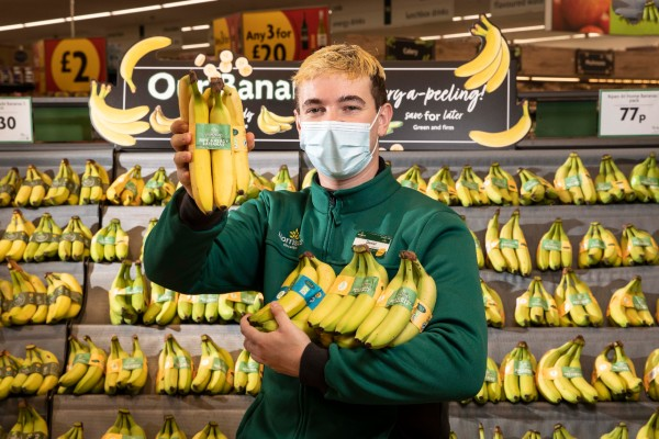 Morrisons pledges to become the first supermarket to remove plastic bags from all of the bananas sold in its stores.