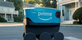 The robots, officially known as Amazon Scouts but nicknamed 'adora-bots', are the size of a portable cooler and are Amazon's first move into a last-mile delivery service