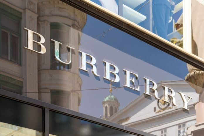 Burberry pretax profits down 62% for first half