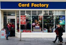 Card Factory sales