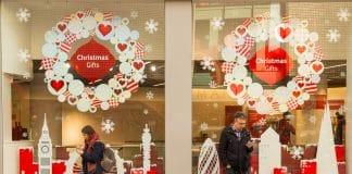 Christmas high street