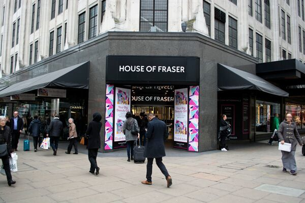 pensions House of Fraser
