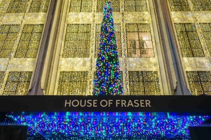 House of Fraser pop-up