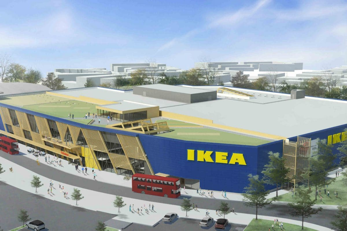 Ikea begins construction of first full-sized London store